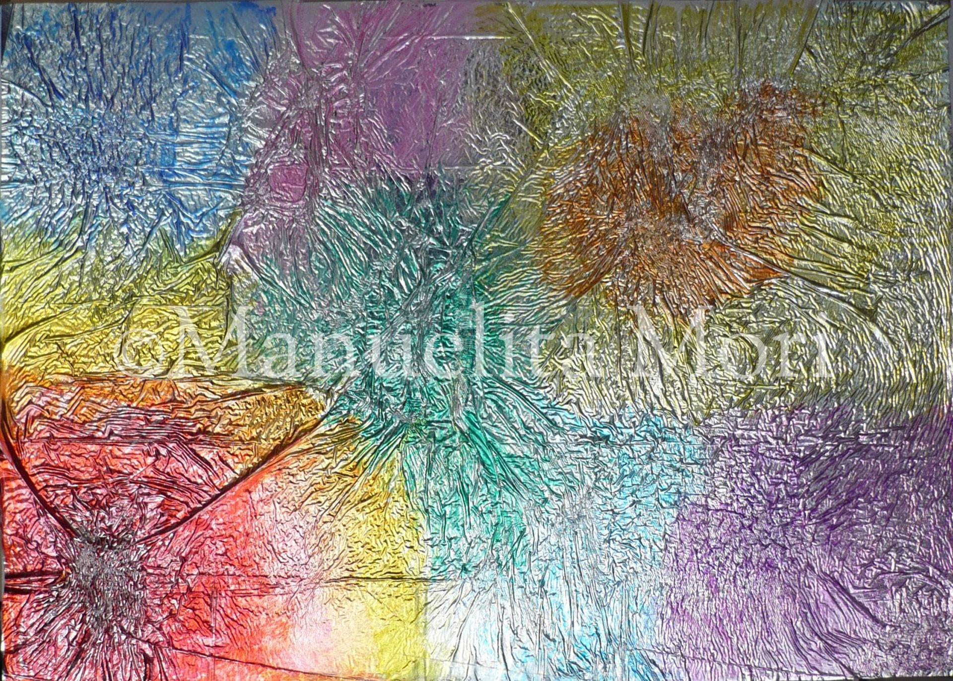 opera 'Giochi di luci' dell'artista Manuelita Mori, pittrice contemporanea.